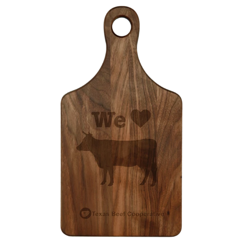 Paddle Shaped Walnut Cutting Board