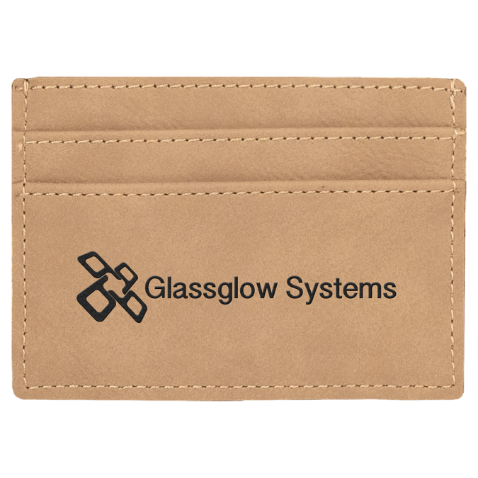 Light Brown Leatherette Wallet Clip