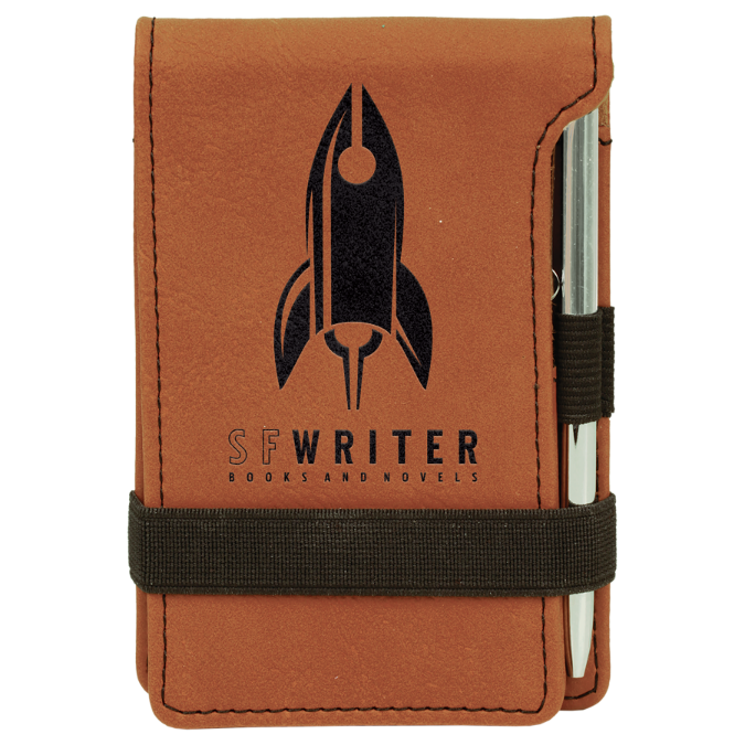 Rawhide Leatherette Mini Pad with Pen