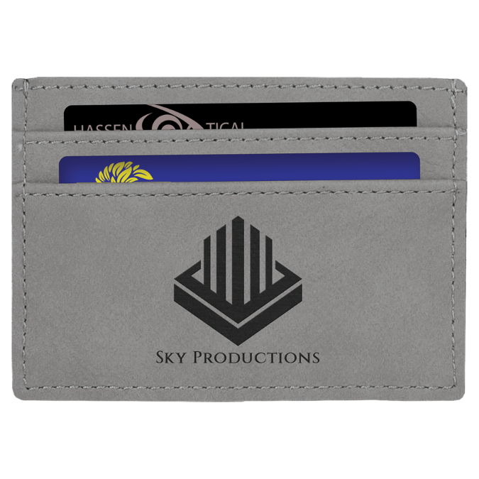 Gray Leatherette Wallet Clip
