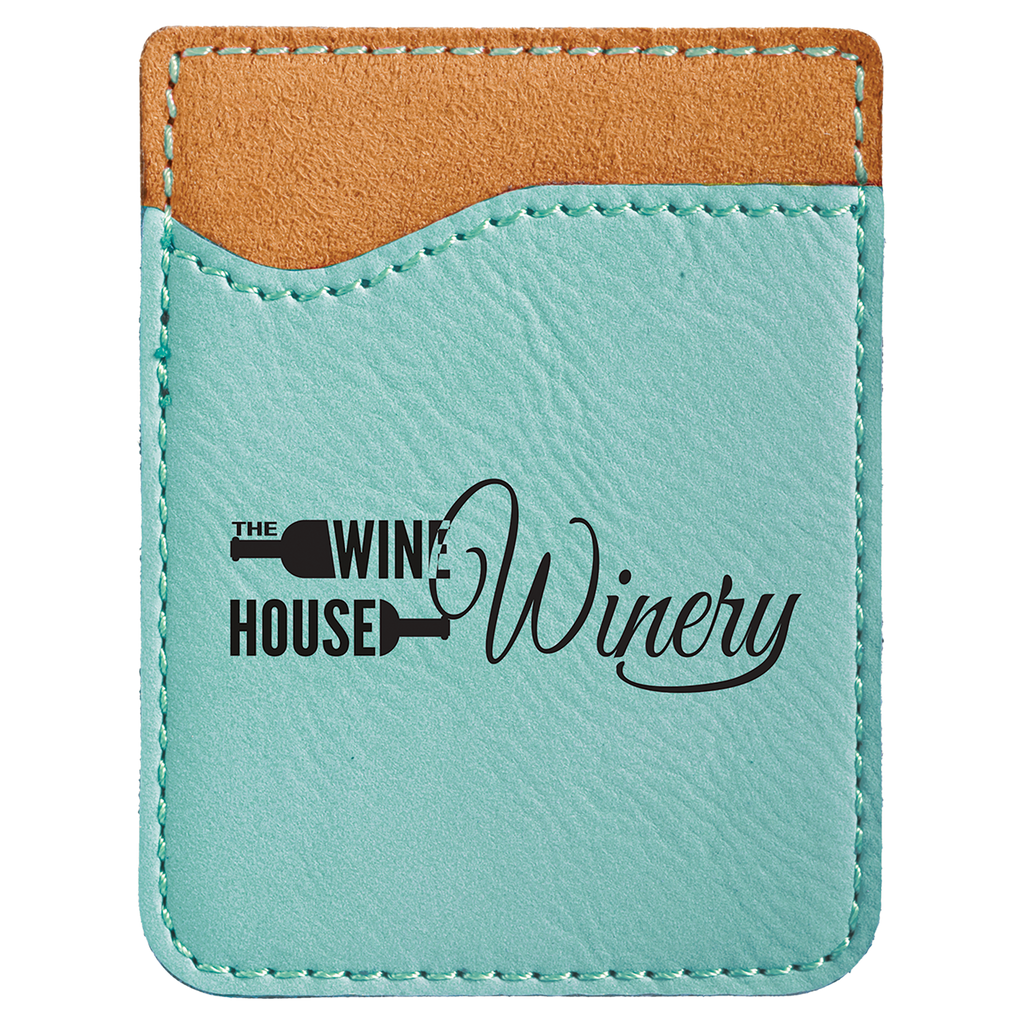 Teal Leatherette Cell Phone Wallet