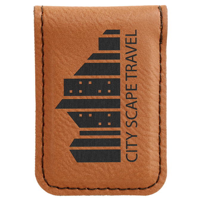 Rawhide Leatherette Money Clip