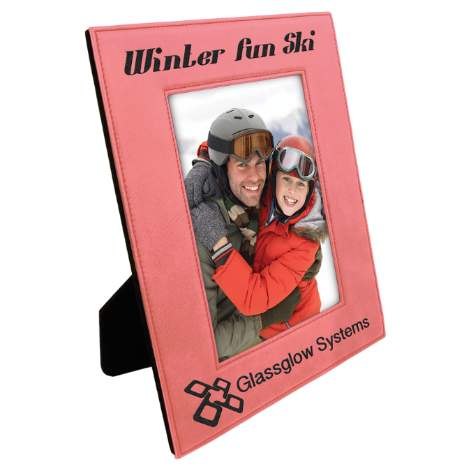 "4"" x 6"" Pink Leatherette Photo Frame"