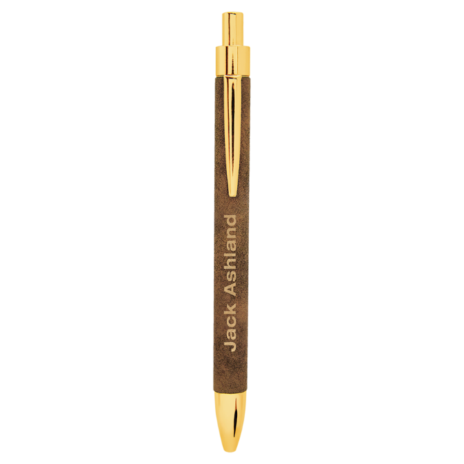Rustic & Gold Leatherette Ballpoint Pen