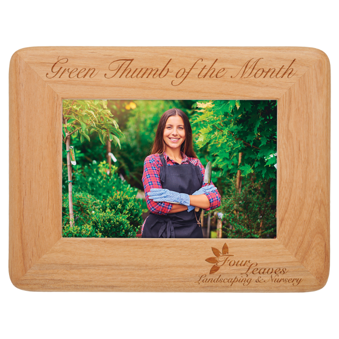 "4"" x 6"" Round Corner Red Alder Photo Frame"