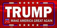 Donald Trump Red Make America Great Again Vanity License Plate