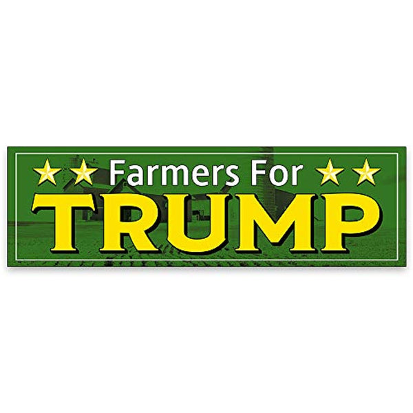 Farmers for Trump Vinyl Banner 10 Feet Wide by 3 Feet Tall