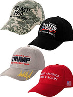 4 Hat Pack -  Donald Trump Pack of 4 Baseball Hats