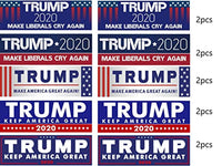 2 Donald Trump Flag with Grommets + 10 Piece Variety Pack Bumper Stickers Trump 2020