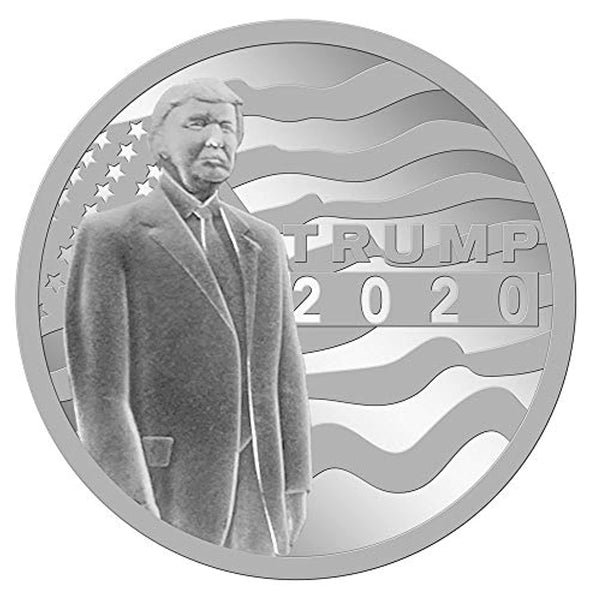 Donald Trump 2020 45th Presidential Limited Edition Mint 1 Troy Oz .999 Fine Silver Round