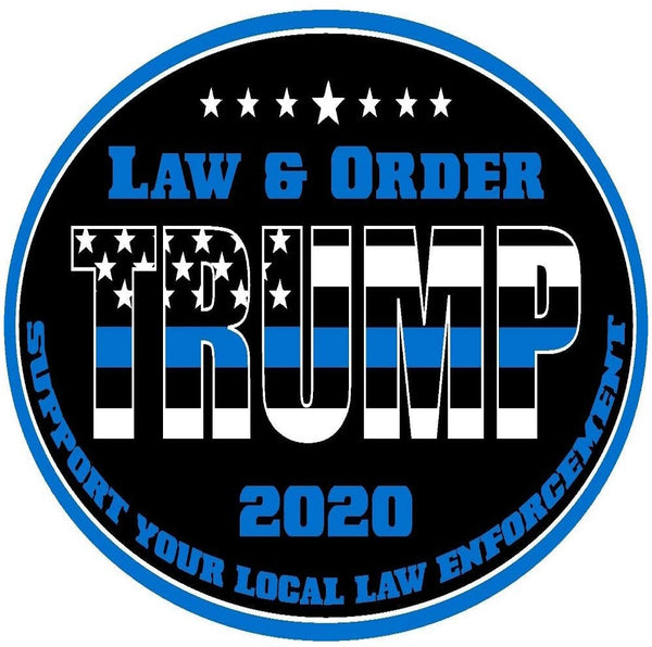 Trump Law and Order Sticker