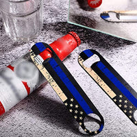 4 Pack of Thin Blue Line Flag  Bottle Openers