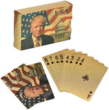 Donald Trump Deck 52 Playing Cards - Gold Plated Trump Playing Cards