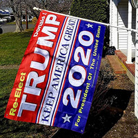 OuMuaMua Trump for President 2020 Flag - 4pcs Different Anti-Static and Anti-Fading Supporting Flag Combination for Trump