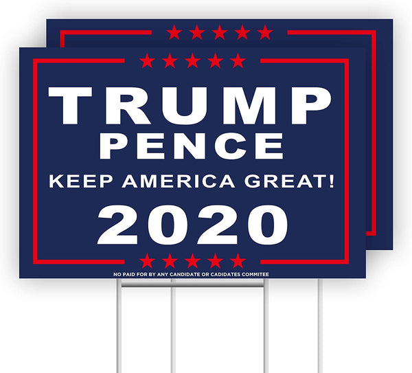 "2020 Donald Trump Pence Sign 12"" x 18"" High Quality Weather Resistant"