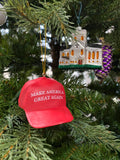Red Make America Great Again Hat MAGA Christmas Ornament