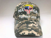 Digi Camouflage MAGA 2020 Trump  Punisher Hat 3D Embroidery