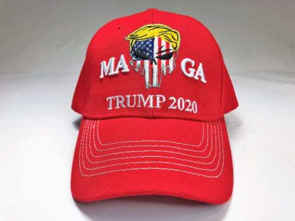 Red Camouflage MAGA 2020 Trump  Punisher Hat 3D Embroidery