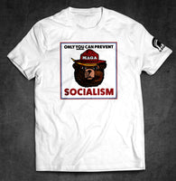 Trump MAGA Bear T-Shirt: 'Only You Can Prevent Socialism'