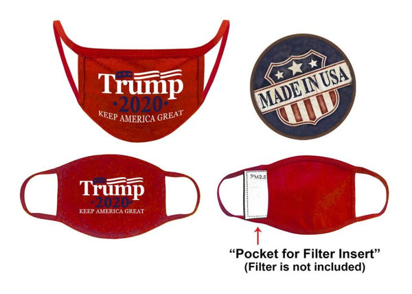 President Trump Red Keep America Great Face Mask