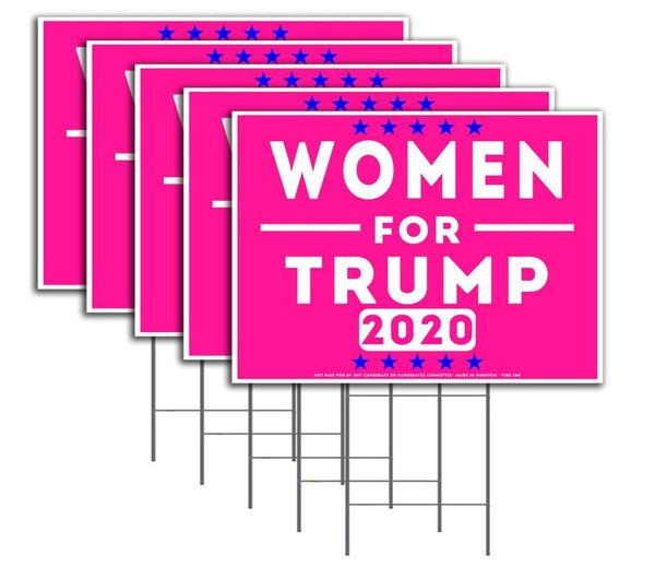 Women for Trump Pink Yard Sign High Quality Weather Resistant