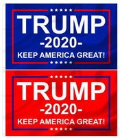 Red & Blue Trump 3x5 Outdoor Campaign Flags Set of 2