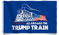 All Aboard The Trump Train 3 x 5 feet with Two Brass Grommets
