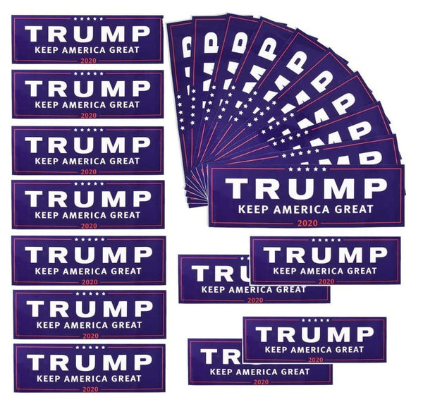 50 Pack - Trump 2020 Bumper Stickers