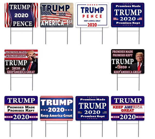 Pack of 10  Donald Trump Pence 2020 Yard Signs Bundle