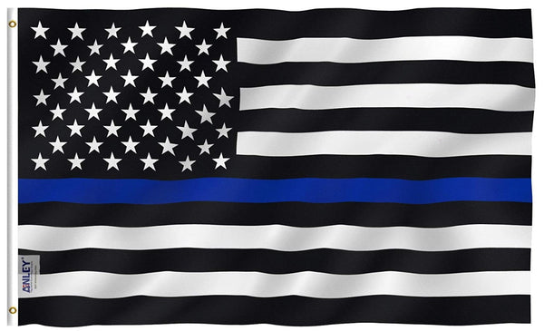 Thin Blue Line American Flag 3 x 5'