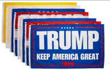 Variety Pack of 8 Trump Flags 3x5'
