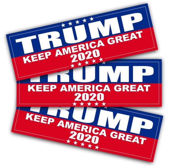 3 Pack - High-Quality Trump 2020 Bumper Stickers KAG