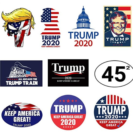 100 Pack - High-Quality Trump 2020 Bumper Stickers 3.5 Inch