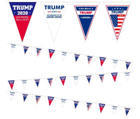 President Trump 2020 Vinyl Flag Bunting Banner for Party Decorations,Parades,16.8ft 12pcs