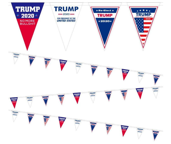 rump 2020 Vinyl Flag Bunting Banner for Party Decorations,Parades,16.8ft 12pcs