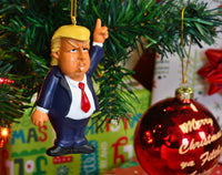 Donald Trump Funny Christmas Ornament