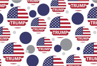 President Trump American Flag Wrapping Paper
