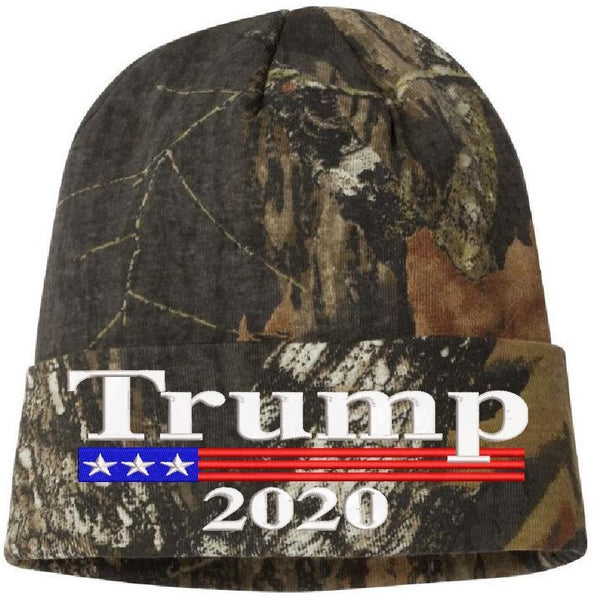Trump 2020 Mossy Oak Camouflage Winter Hat Ski Cap