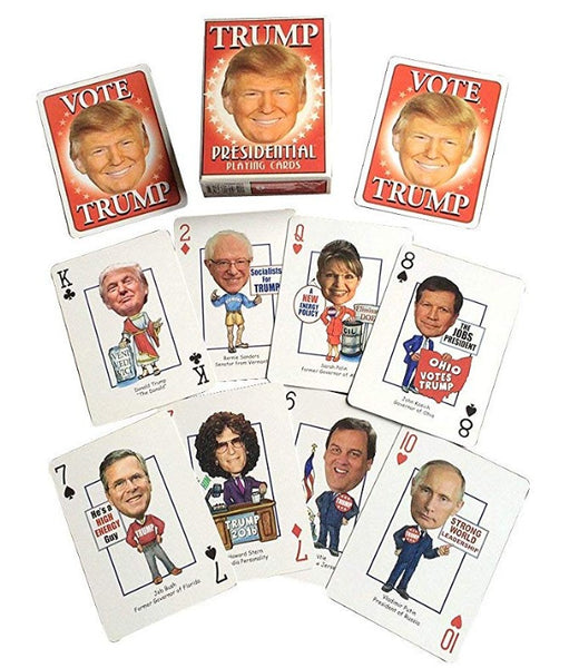 Trump Presidential Playing Cards with Political Figures