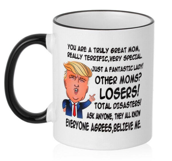 Funny Ceramic Gift for DAD MOM Donald Trump Coffee Mug