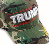 Trump 2020  Camouflage Gold Signature Hat 3D USA High Quality