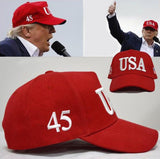 USA 45 Hat Donald Trump 2020 Baseball Cap