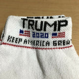 Trump 2020 White Athletic Ankle High 3 Pack of Socks