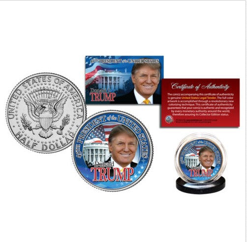 President Donald Trump Official JFK Half Dollar White House