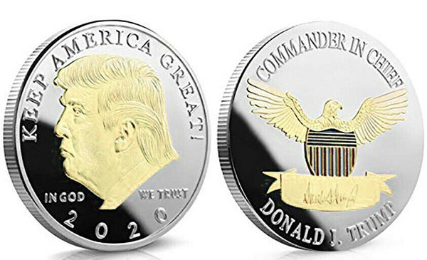 "Pack of 6 ""KEEP AMERICA GREAT"" Donald Trump Novelty Coin"