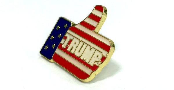 Thumbs Up Trump Lapel Pin