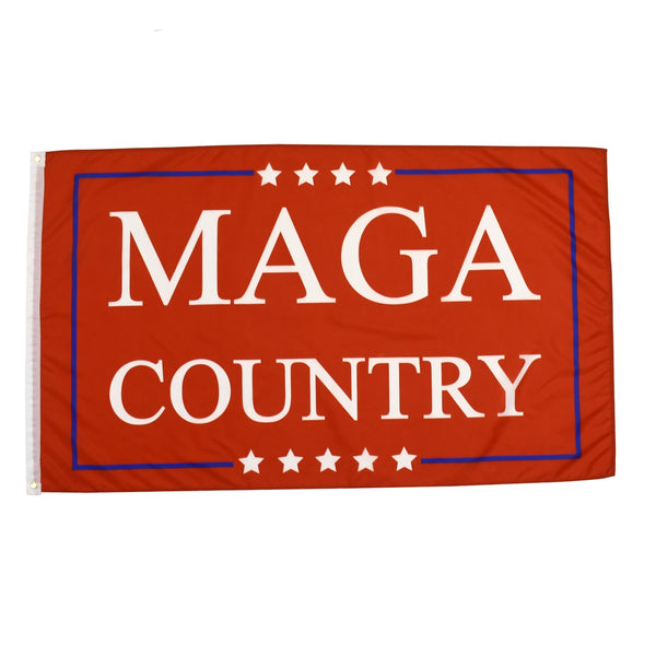 MAGA Country Red Trump Flag 3x5