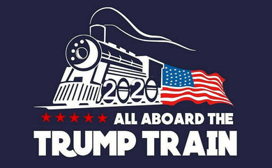 All Aboard The Trump Train 2020 Donald Trump Bumper Sticker 2020