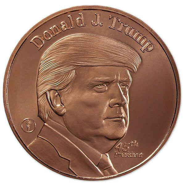 PRESIDENT TRUMP 100% COPPER ROUND COIN ~ High Quality