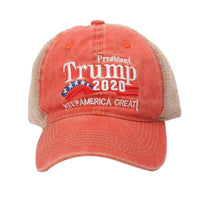 Trump 2020 Mesh Baseball Hat Vintage Look